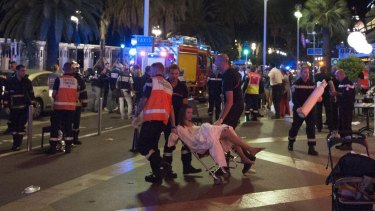 """""""People were being thrown in the air two or three metres high,"""" said one witness."""