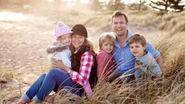 Taryn Brumfitt and her family.
