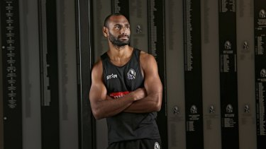 Clear-headed: Collingwood's Travis Varcoe doesn't dwell too much on statistics, or winning for that matter.