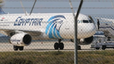 The EgyptAir aircraft that was hijacked during a flight from Alexandria to Cairo in March.