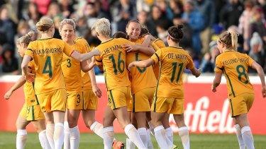 The Matildas are already in Brazil.