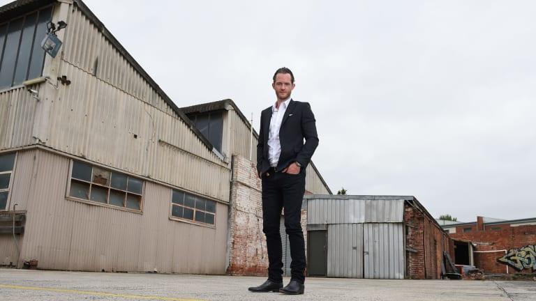 Tim Gurner inside the former industrial  Fitzroy North site.