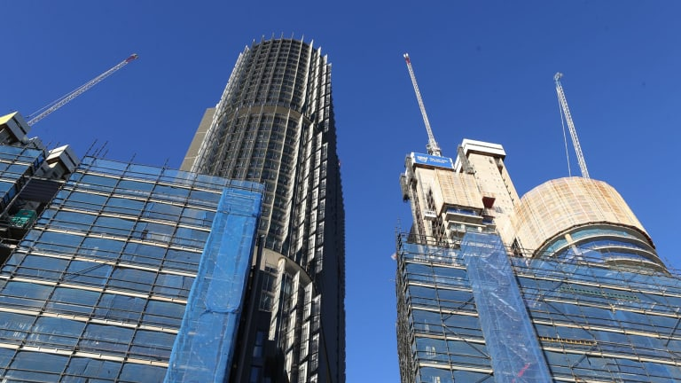 Sydney's construction boom with mega projects such as Barangaroo is luring workers from other states.