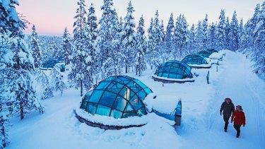 The glass igloos of Kakslauttanen Arctic Resort.