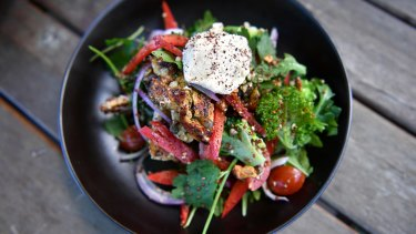 Chicken & Ancient Grain Salad at Fitz Cafe.