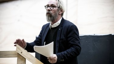 Gyngell in rehearsals for his first Noel Coward play.