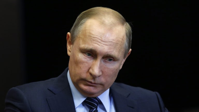 'We will never tolerate such crimes like the one committed today ...'  Russian President Vladimir Putin.