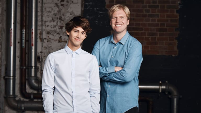 Evan Williams (left) is taking a break from TV while his  friend and collaborator Humphries takes on hosting <i>Pointless</I>.
