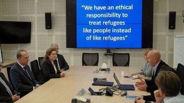 Andrew Harper briefs Peter Dutton on UNHCR work in Amman