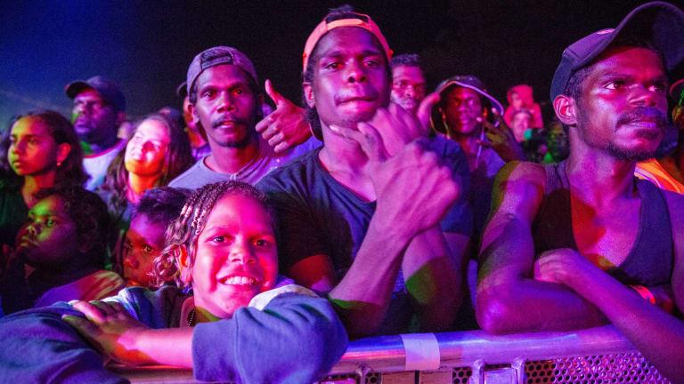 Barunga audience.