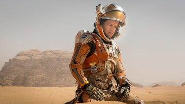 Battle for survival: Matt Damon in <i>The Martian</i>.