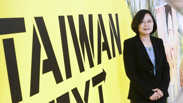 Tsai Ing-wen, presidental candidate and chairwoman of Taiwan's pro-independence Democratic Progressive Party, in 2011.