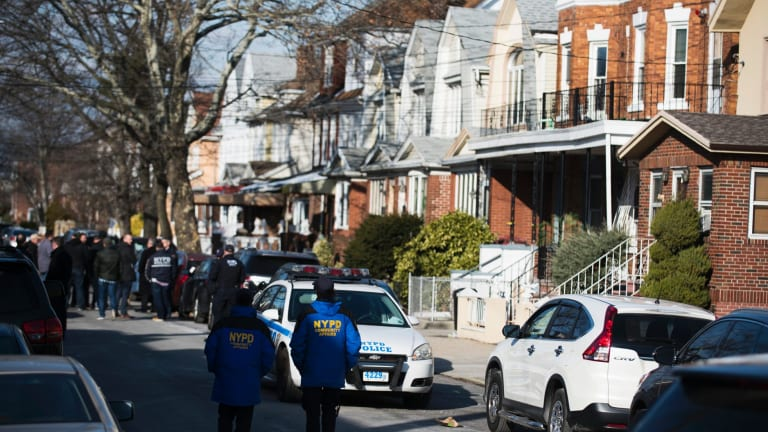 Police block off the street in Brooklyn where officials say Akayed Ullah lives and learnt how to make a pipe bomb.