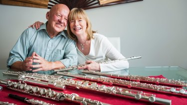 Canberra flautists Vernon Hill and Virginia Taylor are leaving Canberra after nearly 40 years to move to Brisbane.