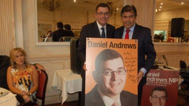 Cr Khan with Daniel Andrews.