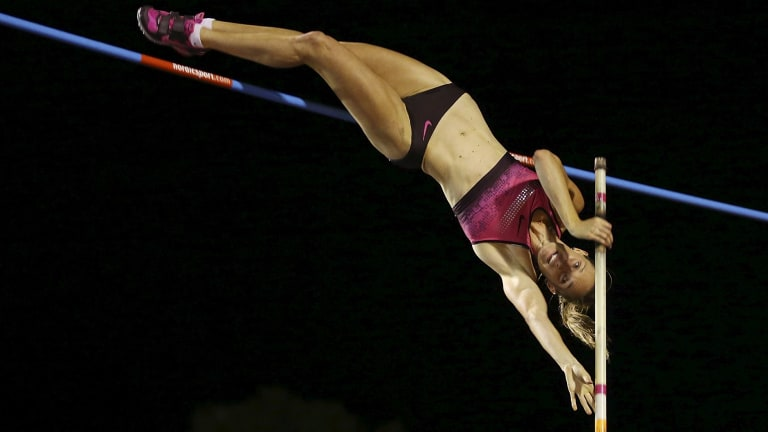 Rich vein of form: Alana Boyd cleared 4.81m on the Sunshine Coast on Saturday, bettering the national record by 4cm.