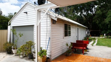 The Fairfield granny flat shared by the pair that was raided by police earlier this week.