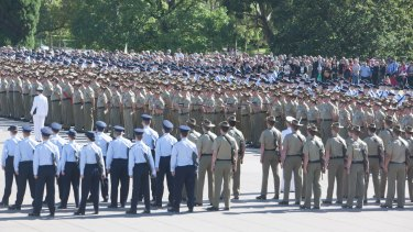 The parade honoured Australian servicemen and women who have served in Afghanistan since 2001.