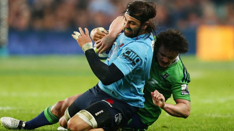 Hard to swallow: Jacques Potgieter was sin-binned for a swinging arm.