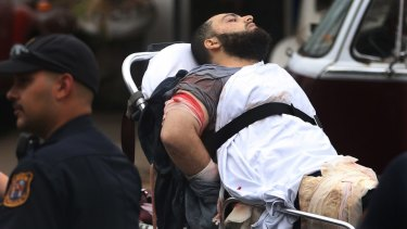 Ahmad Khan Rahami is taken into custody after a shootout with police in New Jersey.