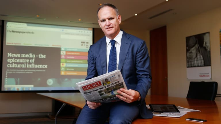 APN chief executive Michael Miller ... 'I would anticipate that we are going to see very different newspapers, very different websites.'