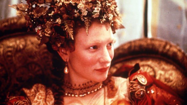 Cate Blanchett in Elizabeth.