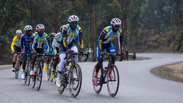 Team Rwanda hits the pristine road.
