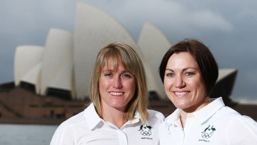 Birds of a feather: Sally Pearson and Anna Meares have crashed through pain barriers.