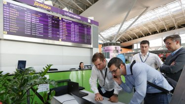 June 2017: employees at Boryspil airport in Kiev struggle to counter data-scrambling software that caused disruption across Europe but hit Ukraine especially hard.