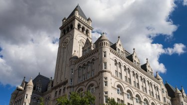 The Trump International Hotel in Washington, which Deutsche Bank's private wealth wing helped pay for.