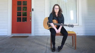 Australian songwriter Alex Hope at her home in Los Angeles.