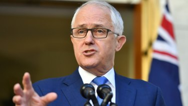 """The government is """"getting barnacles off the boat"""", says Malcolm Turnbull."""