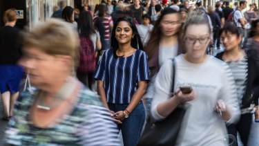 """""""Constantly evolving"""": Santini Subramaniam, who came from Singapore 10 years ago, says Australia has embraced different cultures."""