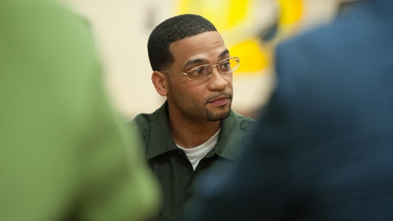 Student and prison inmate Danny Contreras at the Bard Prison Initiative at the Fishkill Correctional Facility, New York, in December.