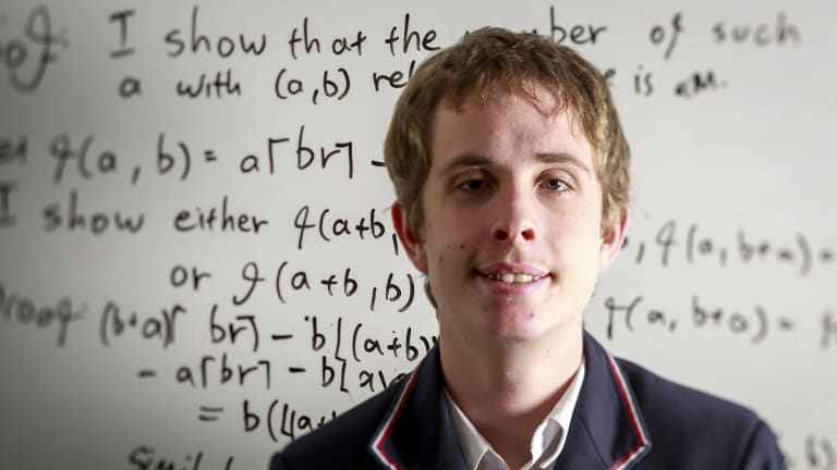 Alexander Gunning from Glen Waverley Secondary College who came fourth overall at the International Maths Olympiad.