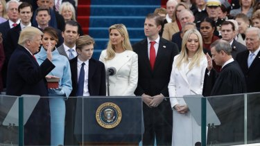 Donald Trump is sworn in as the 45th President of the United States on January 20 in Washington.