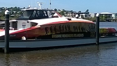 Keep an eye out for the Anzac themed Brisbane CityCat.