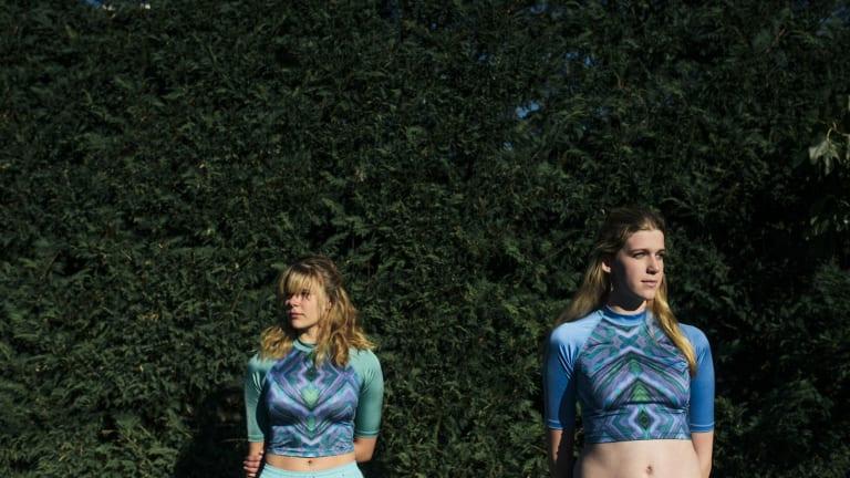 Antonia Skene, Nyssa Mitchell who are wearing Vivienne Mitchell designs that will show at fashfest next week.