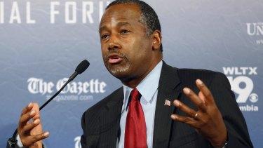 Republican presidential candidate and retired neurosurgeon Ben Carson.
