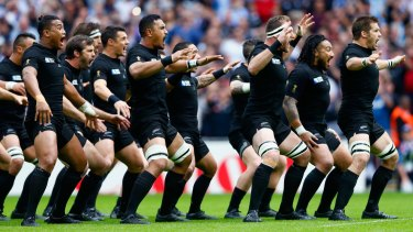 The All Blacks announce their arrival at the World Cup.