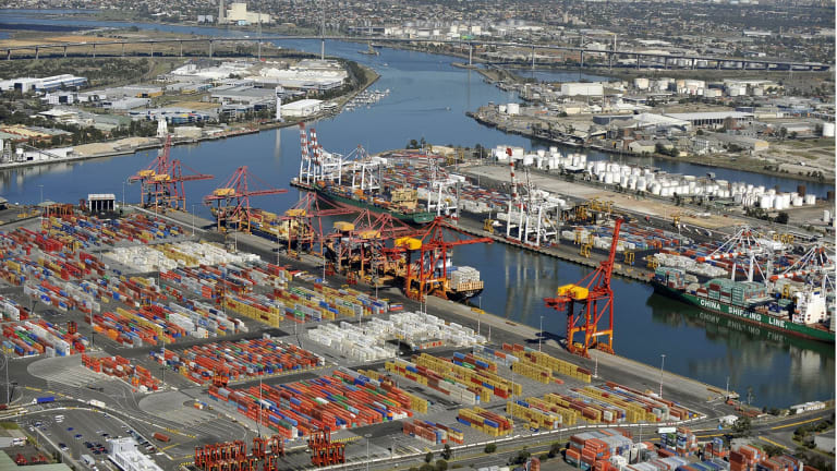 The infrastructure investment with the most benefits is the port-rail terminal at Swanson Dock, foreground, which has been delayed.