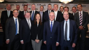 Prime Minister Malcolm Turnbull and Senator Mitch Fifield joined a summit of media executives, all urging the Senate to pass industry reforms.