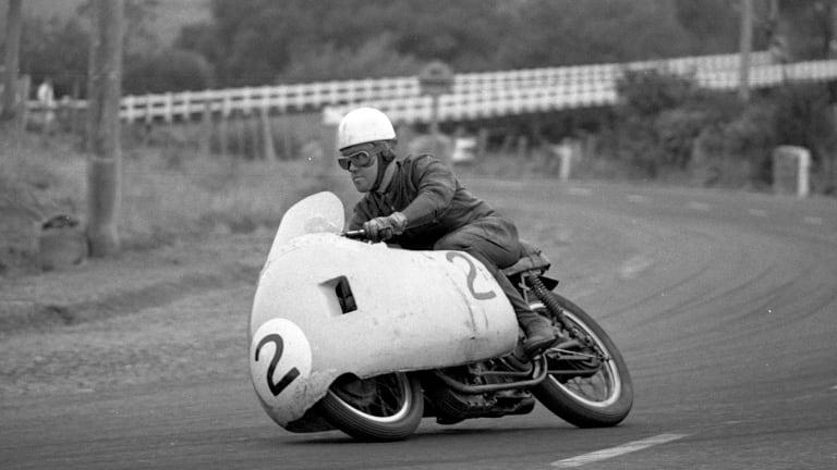 Jack Ahearn sweeps off Long Bridge at Longford, Tasmania in 1961.