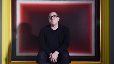Ambitious: Artist Tomislav Nikolic with his Bulgari Art Prize-winning work.