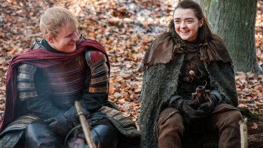 Larsson co-wrote her latest single with Ed Sheeran, left, who recently cameoed in 'Game of Thrones'.