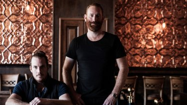 Co-owners of the Longhorn Saloon, Nick and Will Balleau.