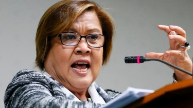 Senator Leila De Lima led an investigation into President Rodrigo Duterte's bloody anti-drug campaign.