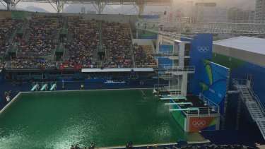 Divers were forced to dive into a green pool.
