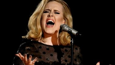 Adele at her record-breaking concert.