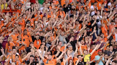 Sea of orange: Proud Roar fans make their presence felt.